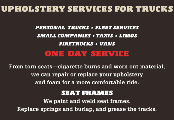 Upholstery Services for Trucks